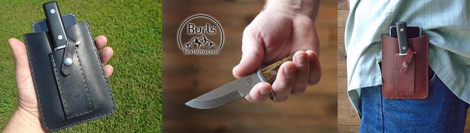 Burls Phone Case With Knife Sheath