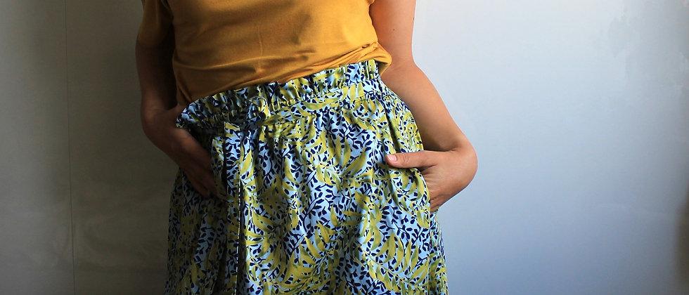 Řasená sukně V listí