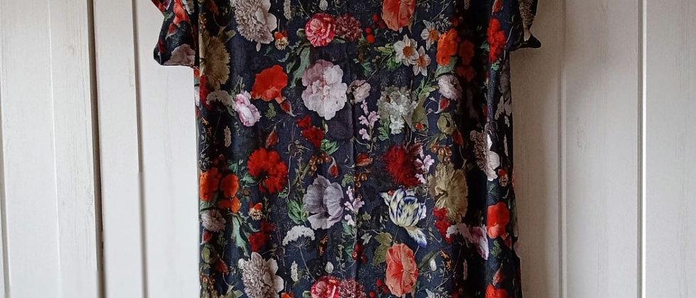 Úpletové šaty Květy noční oblohy