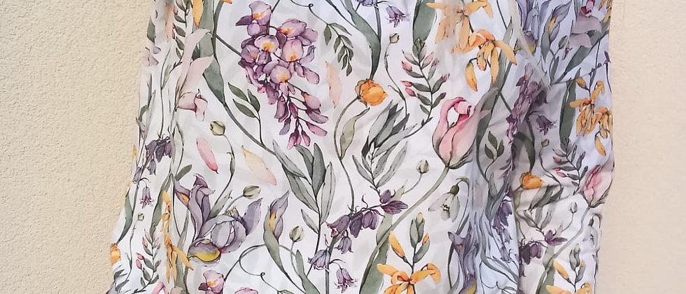 Mikina Květenství na bílé