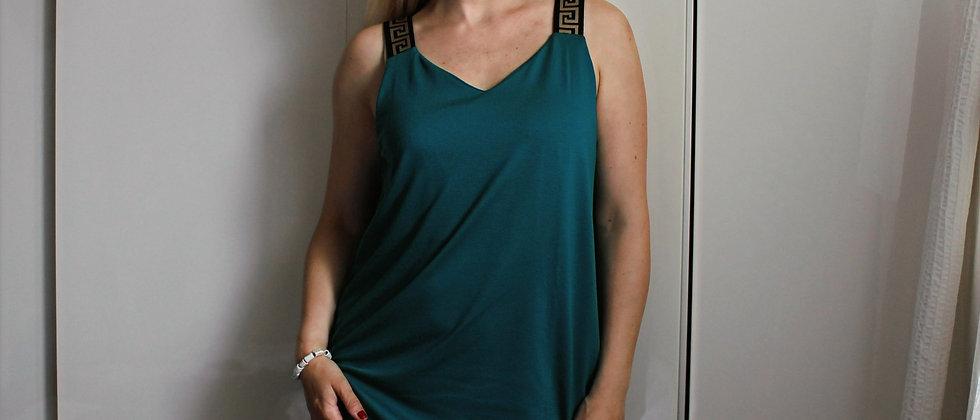 Šaty Versa zelená tyrkysová