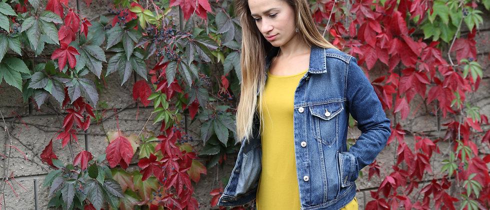 Šaty žlutá hořčice