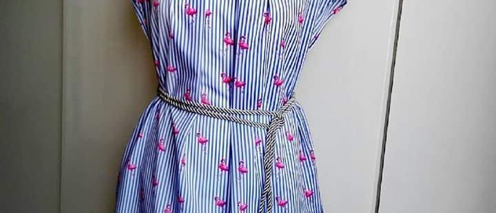 Šaty Léto s plameňákem