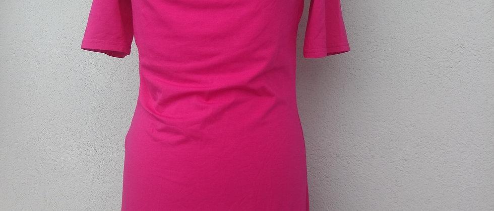 Bambusové šaty Pink se spadlým výstřihem