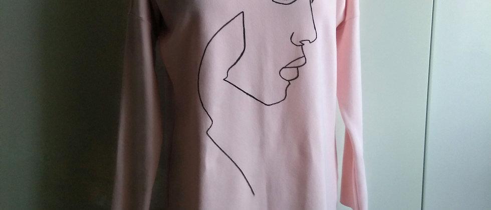 Šaty Face ruční kresba/na objednání