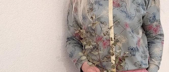 Mikina Khaki s květy