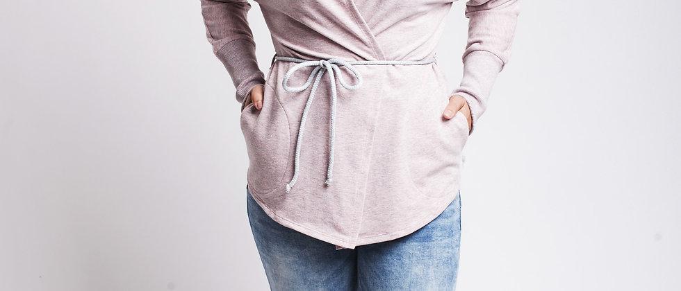 Kimonové sako Světlá růžová
