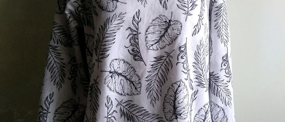 Palmové listy na bílé