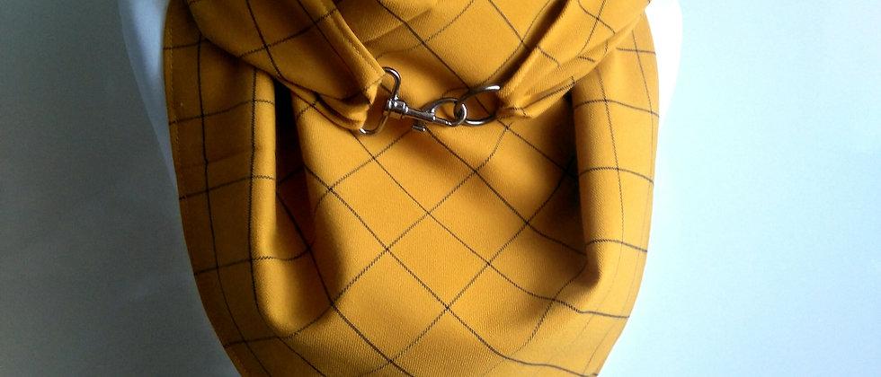 Maxi šátek káro se sponou / různé barvy
