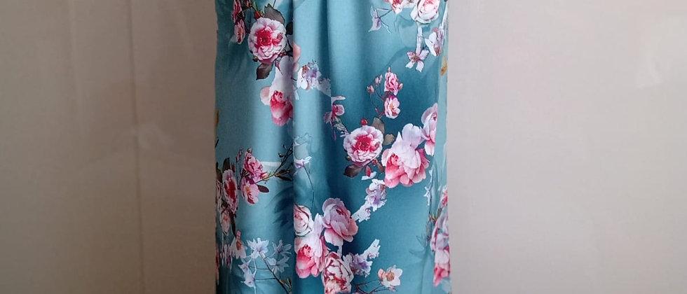 Letní šaty s hedvábným leskem modré