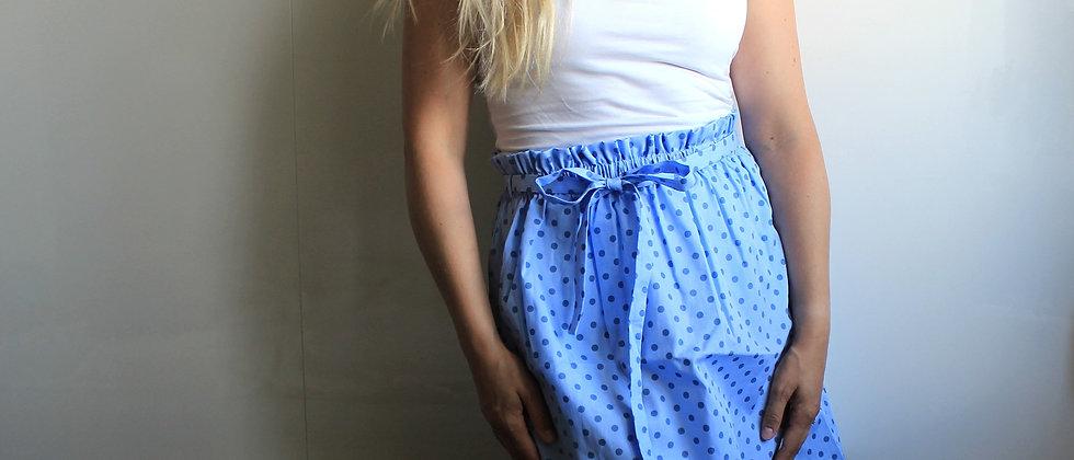 Řasená sukně V puntíku (světlá)