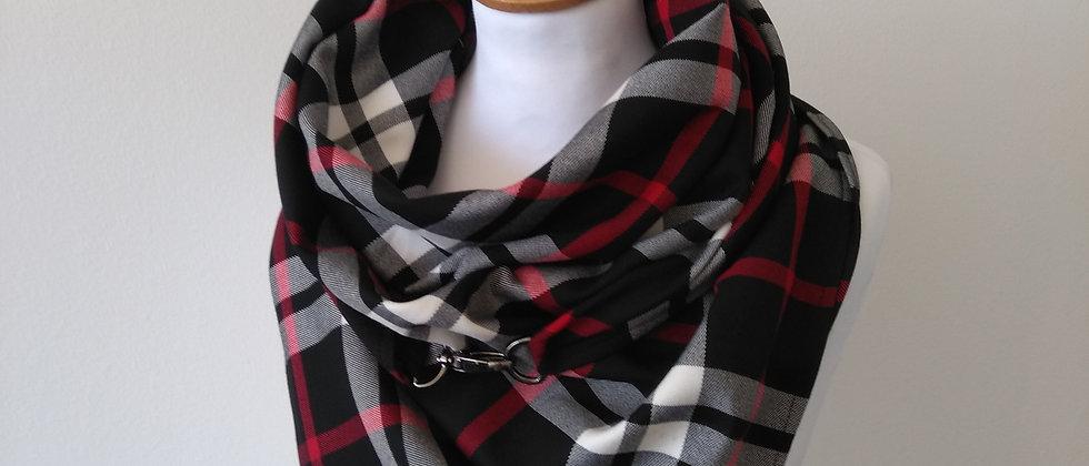 Velký šátek se sponou černý