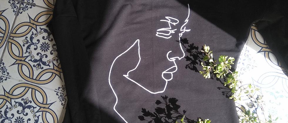 Šaty s ruční kresbou černé