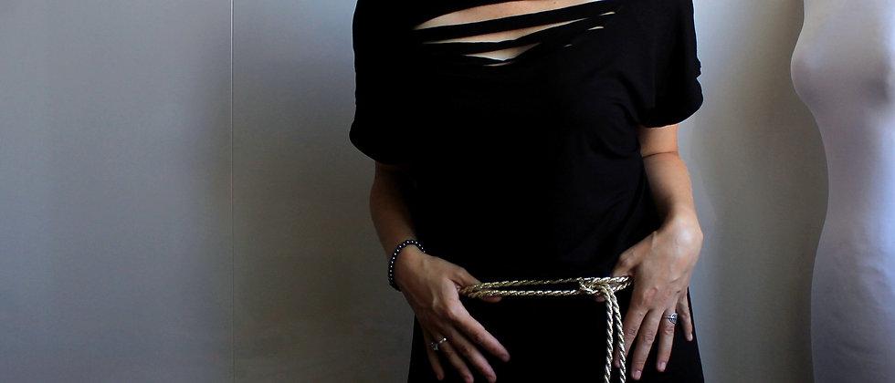 Černé šaty s prostřih