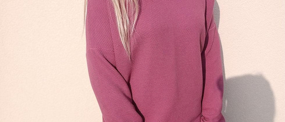 Mikina zrnitý vzor růžovofialová