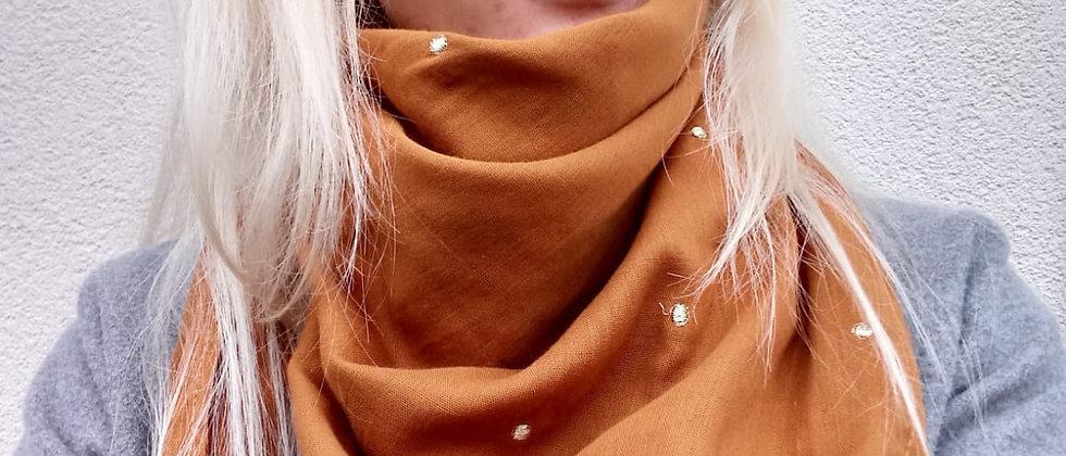 Velký šátek Skořice