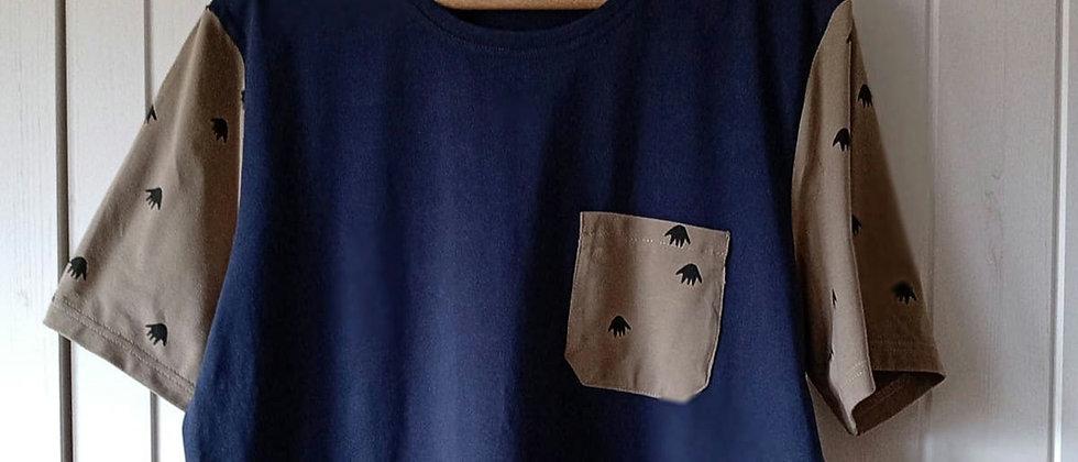 Pánské tričko Modré s ťapkami