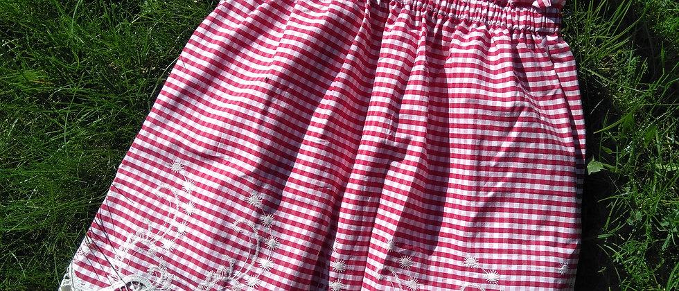 Sukně s vyšívanou bordurou