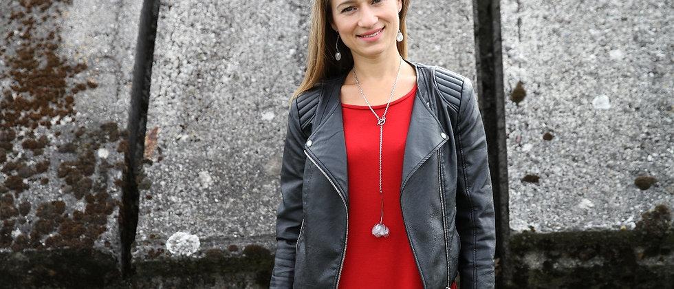 Šaty s volánem červené