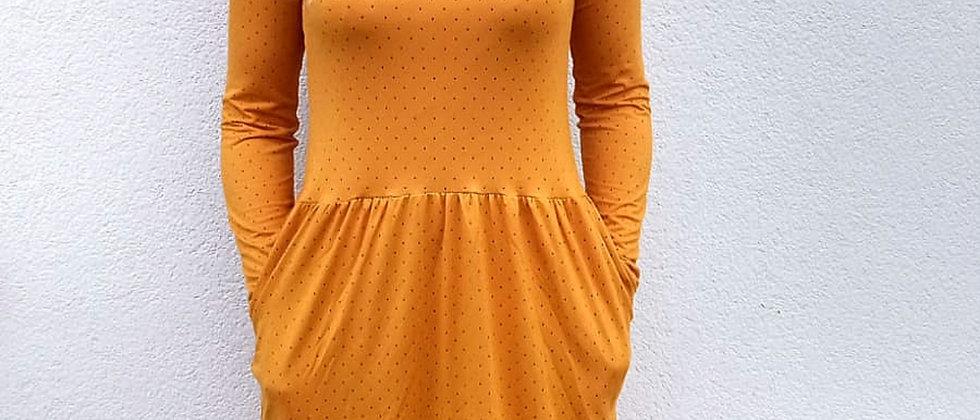 Bambusové šaty s řasenou sukní