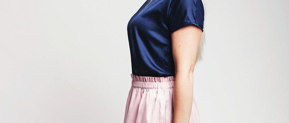 Řasená sukně Light Pink