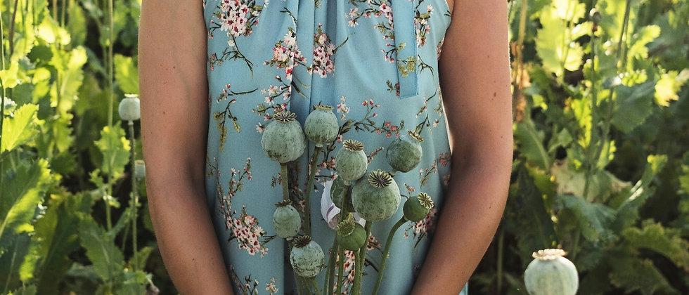 Letní šaty s hedvábným leskem