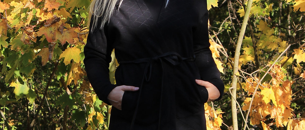 Kimonový cardigan černý/na objednání