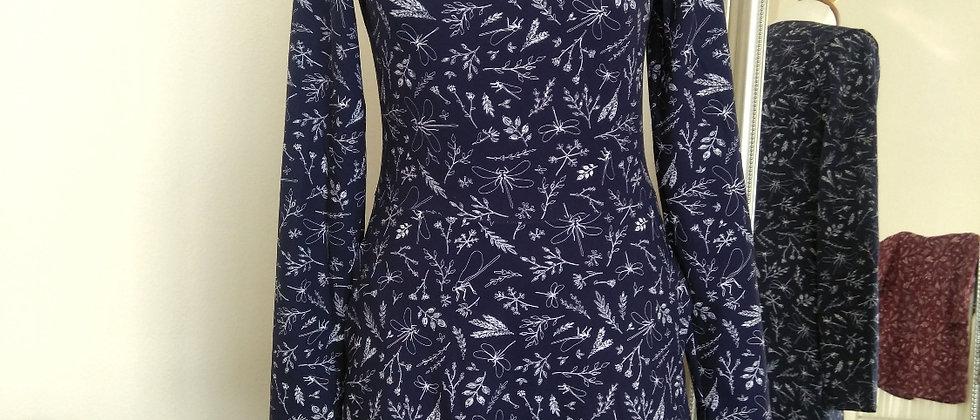 Šaty vážky v modré