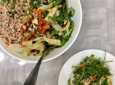 Seasonal Roasted Vegetable and Farro Salad