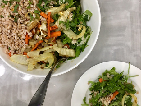 Seasonal Roasted Vegetable and Farro Salad