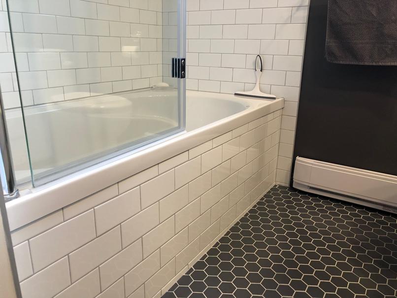 jupe de bain pose brique