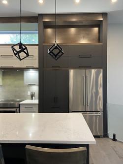 cuisine acrylique lustré et noir mat