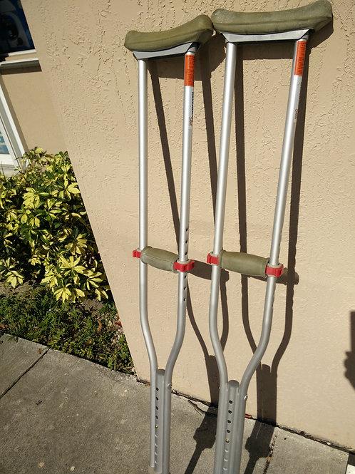 Aluminum Walking Crutches - Used