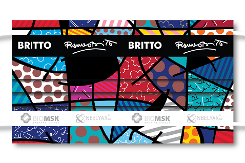 Britto Masks - Art in your Face  Washable, Nanomolecule, Protector Shield