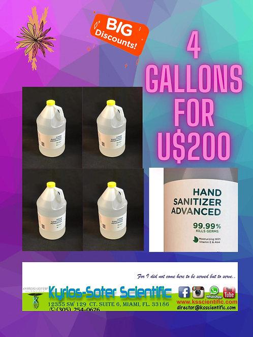 Hand Sanitizer Advanced Vitamin E and Aloe Vera 1 Gallon