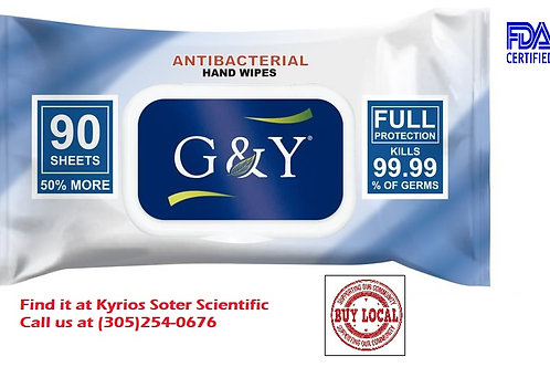 Antibacterial Hand  &  Surfaces Wipes