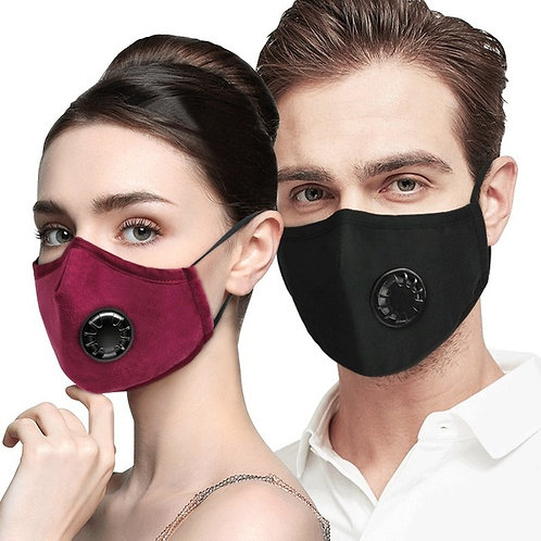 Reusable Fabric Mask included 1 Filter and Valve
