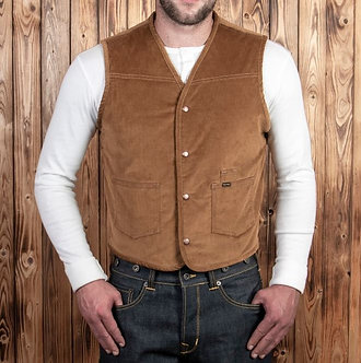 Pike Brothers 1966 Rodeo Vest Cord Mustard