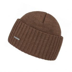 Stetson Beanie Merino Wool Brown