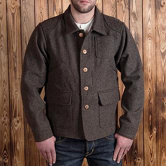 Pike Brothers 1942 Hunting Jacket Brown Melange Wool