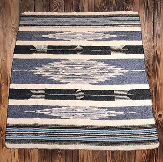 1969 Chimayo Blanket, Blue