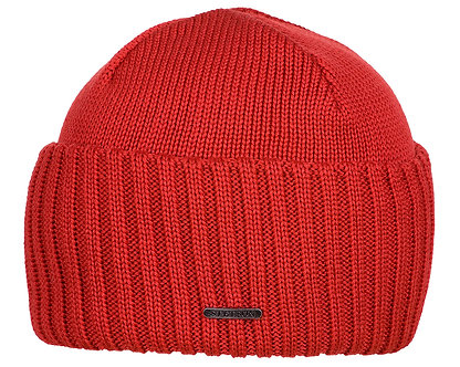 Stetson Beanie Merino Wool Red