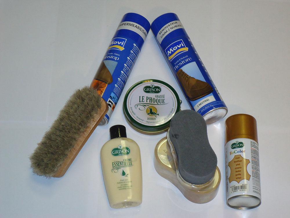 Produits d'entretien des chaussures