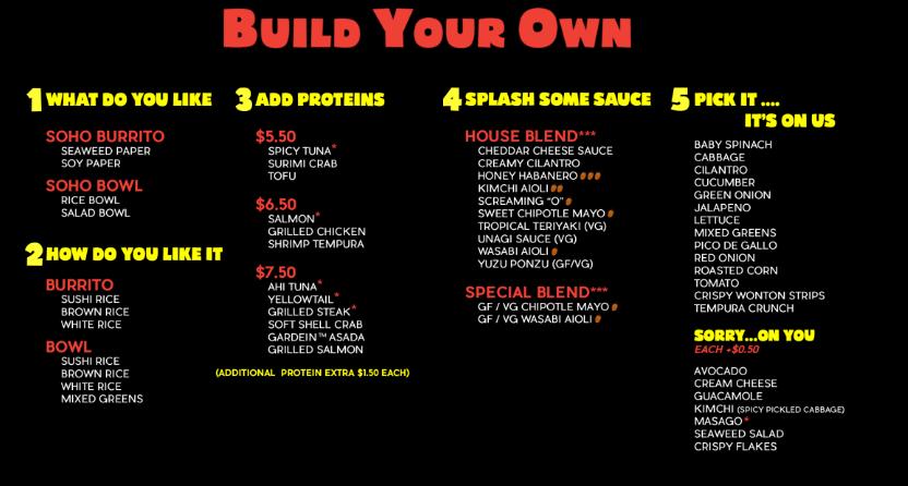 Sushi Burrito Build your Own