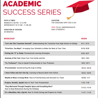 Want to Learn How to Set Yourself Up for Academic Success? Learn More About the Academic Success Cen