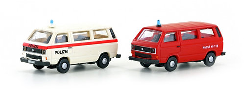 Minis set bus VW Police et Ambulance