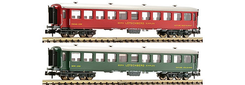 """Fleischmann Set de 2 voitures BLS """"Swiss Classic Train"""""""