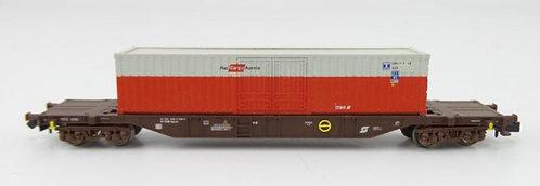 Minitrix ÖBB wagon porte-conteneur Rail Cargo Austria