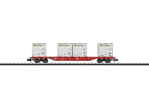 Minitrix wagon porte-conteneur DB AG