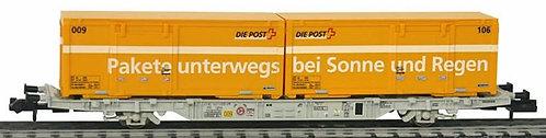 Creanorm CFF wagon porte-conteneurs PTT